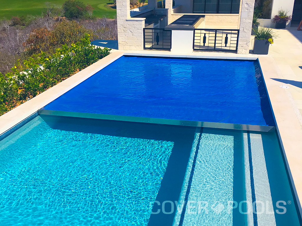 Royal Blue Automatic Swimming Pool Cover