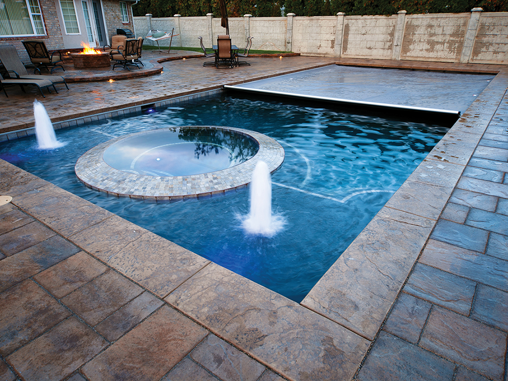 Delicieux Pool Covers Bubblers Lights Backyard Rectangle Recessed Underside Spa Cover  .